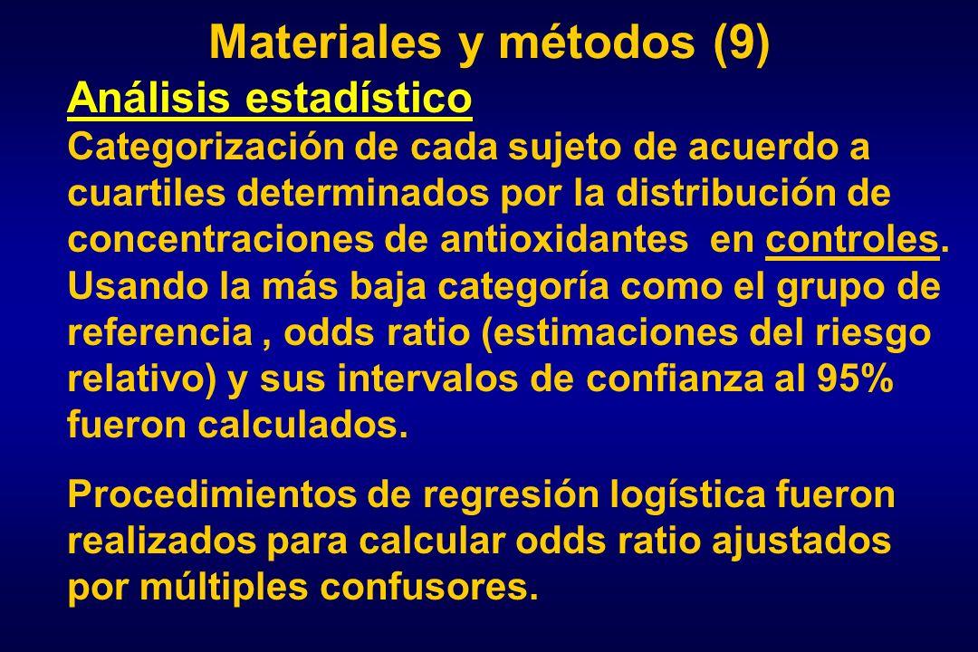 Materiales y métodos (9)