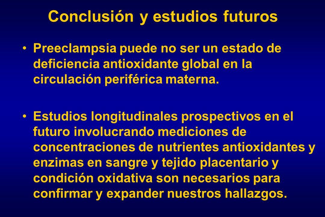 Conclusión y estudios futuros