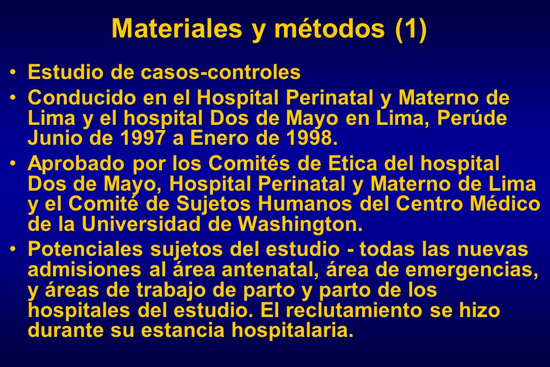Materiales y métodos (1)