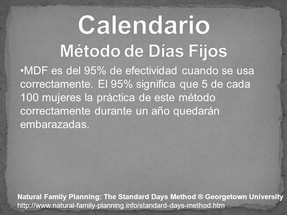 Calendario Método de Días Fijos