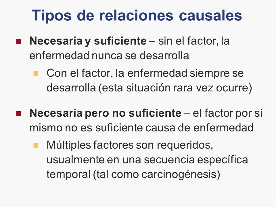 Tipos de relaciones causales