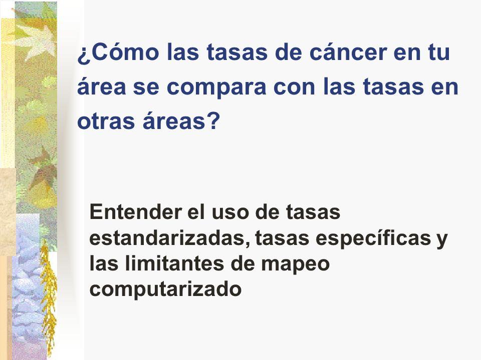 ¿Cómo las tasas de cáncer en tu área se compara con las tasas en otras áreas