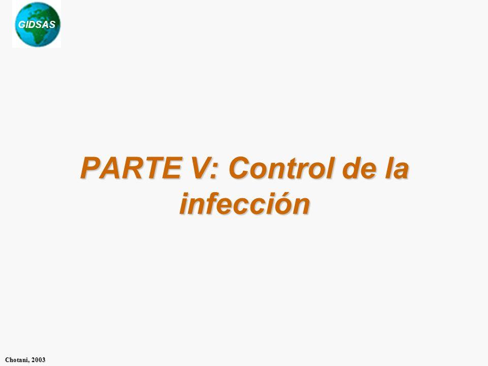 PARTE V: Control de la infección