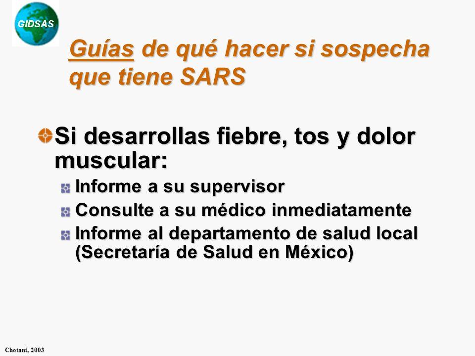 Guías de qué hacer si sospecha que tiene SARS