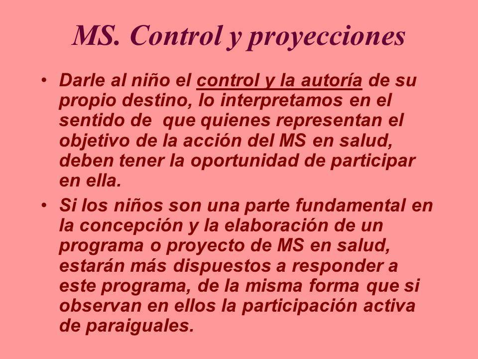 MS. Control y proyecciones