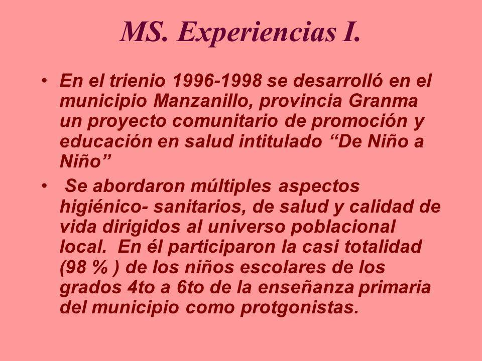 MS. Experiencias I.