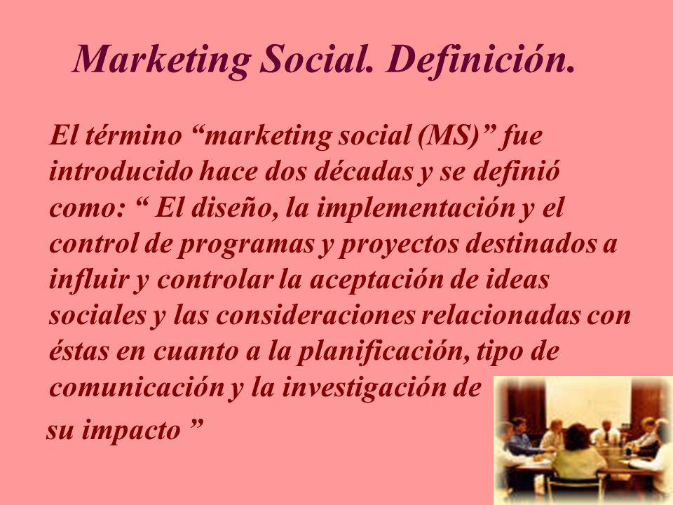 Marketing Social. Definición.