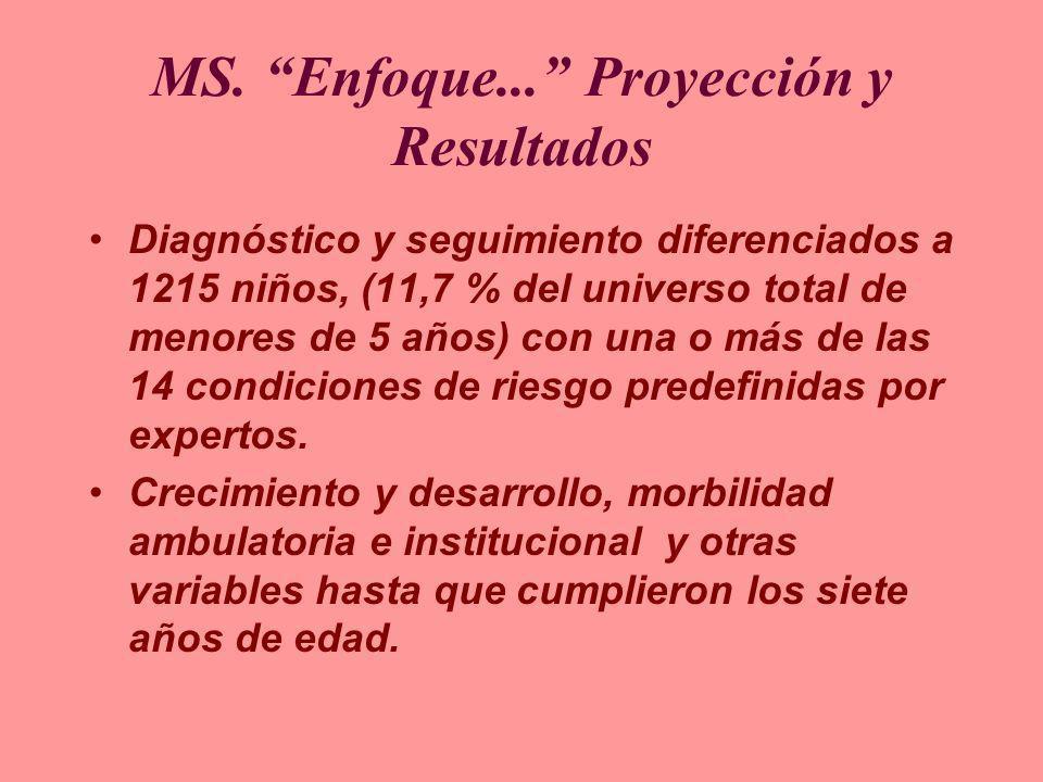 MS. Enfoque... Proyección y Resultados