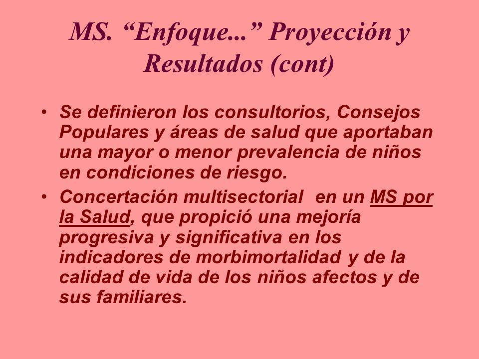 MS. Enfoque... Proyección y Resultados (cont)