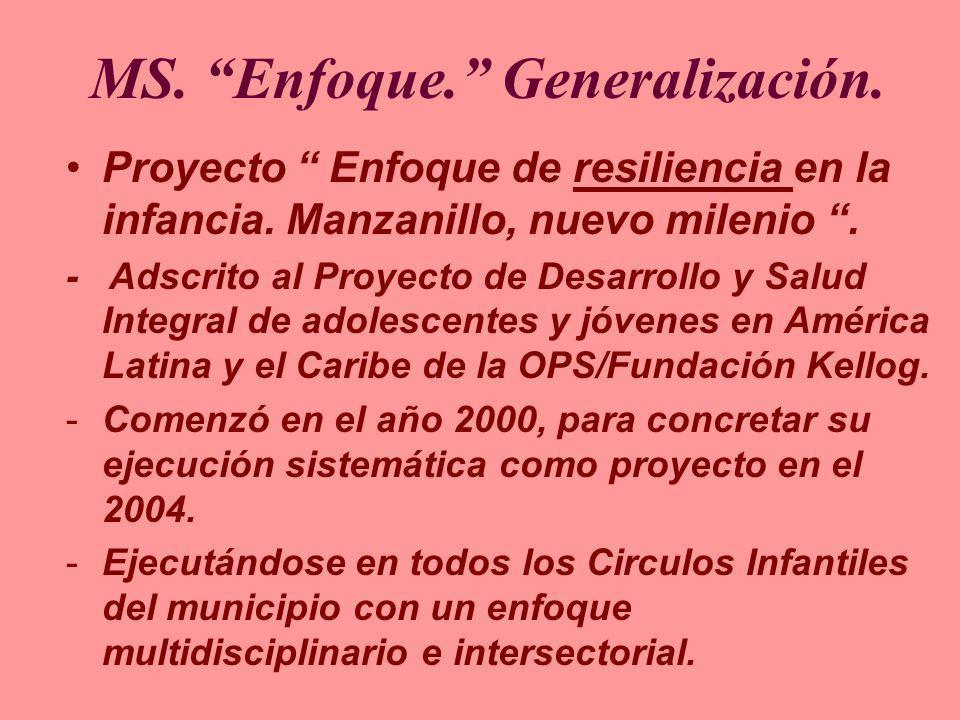 MS. Enfoque. Generalización.
