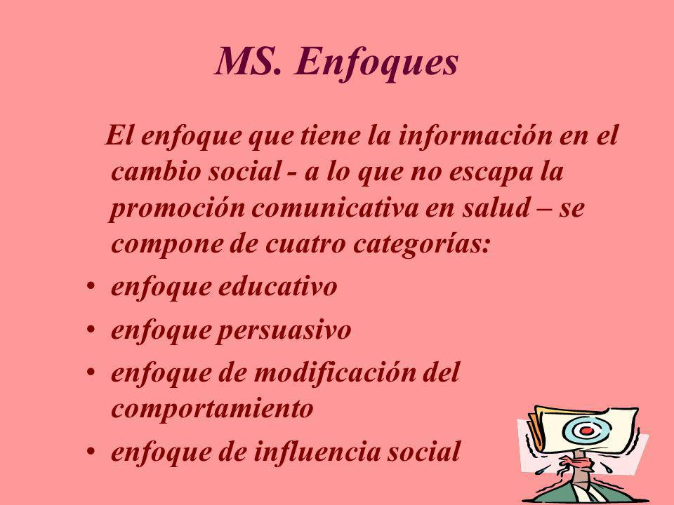 MS. Enfoques enfoque educativo enfoque persuasivo