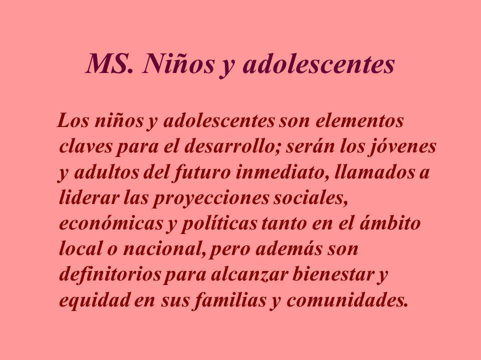 MS. Niños y adolescentes