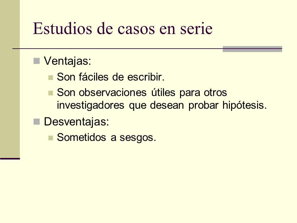 Estudios de casos en serie