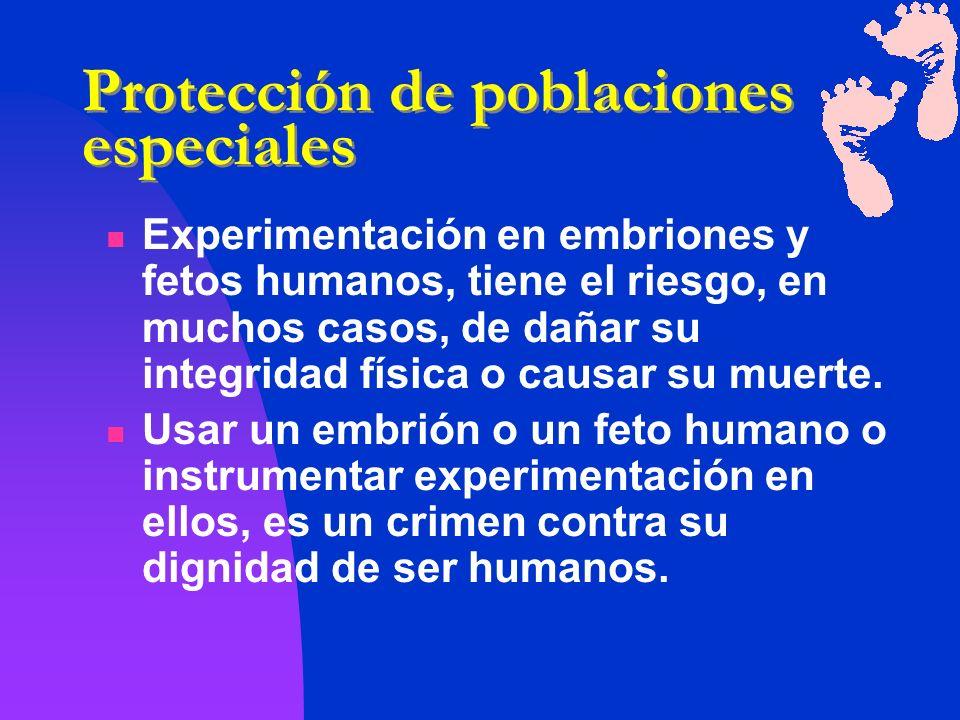 Protección de poblaciones especiales