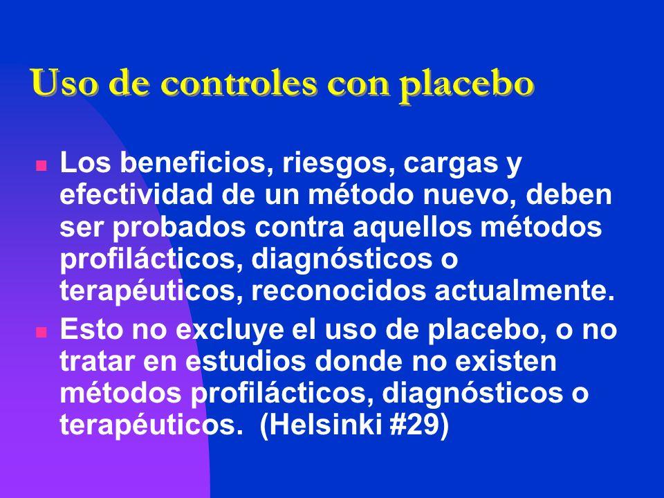 Uso de controles con placebo