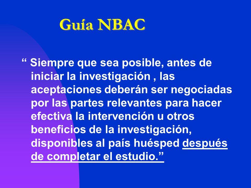 Guía NBAC