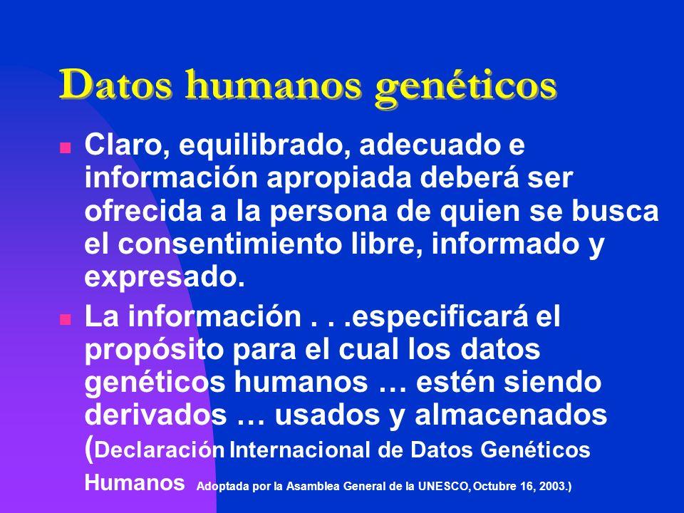 Datos humanos genéticos
