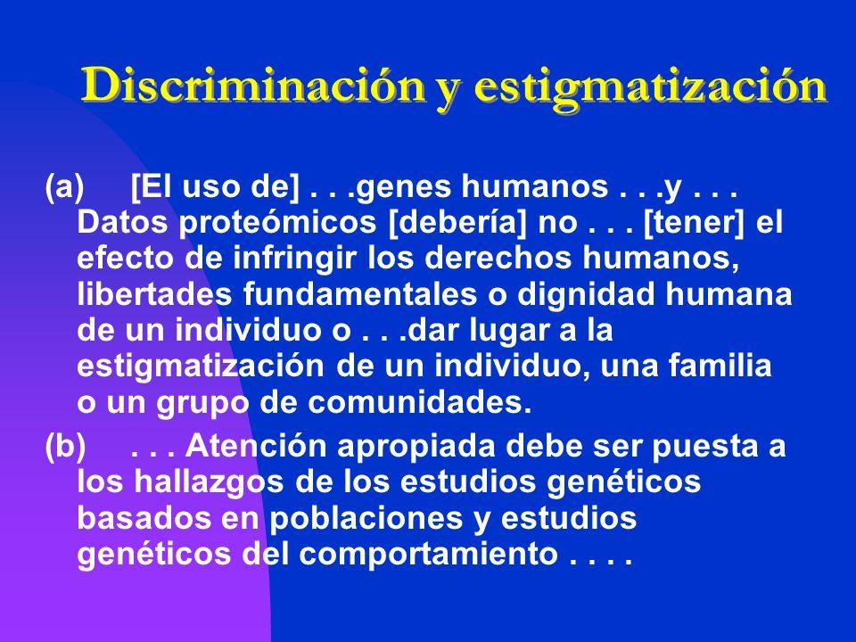 Discriminación y estigmatización