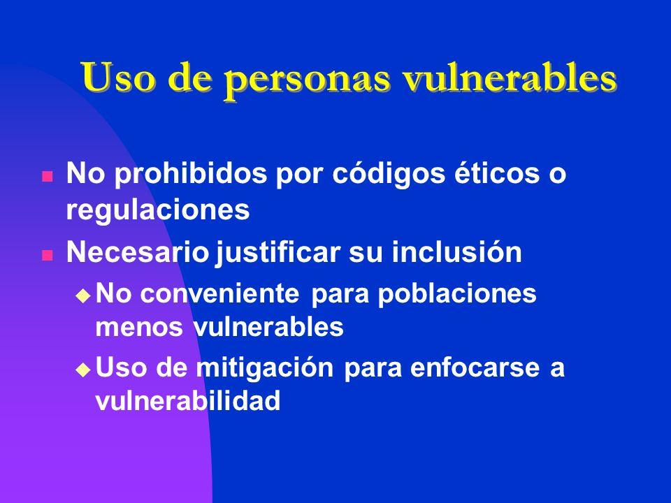 Uso de personas vulnerables