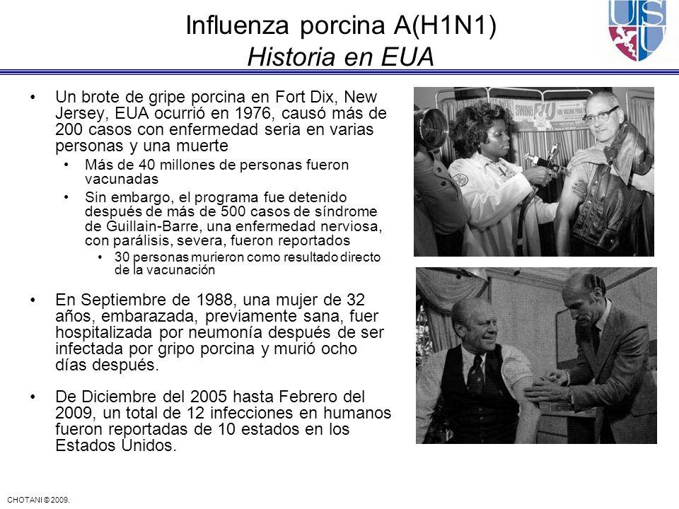 Influenza porcina A(H1N1) Historia en EUA
