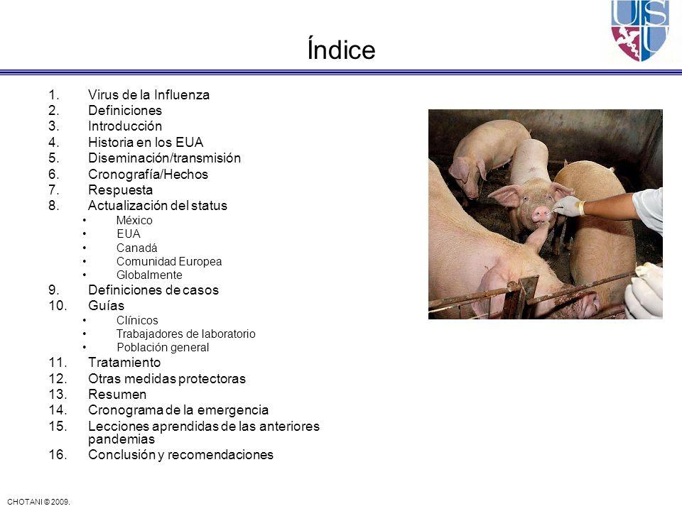 Índice Virus de la Influenza Definiciones Introducción