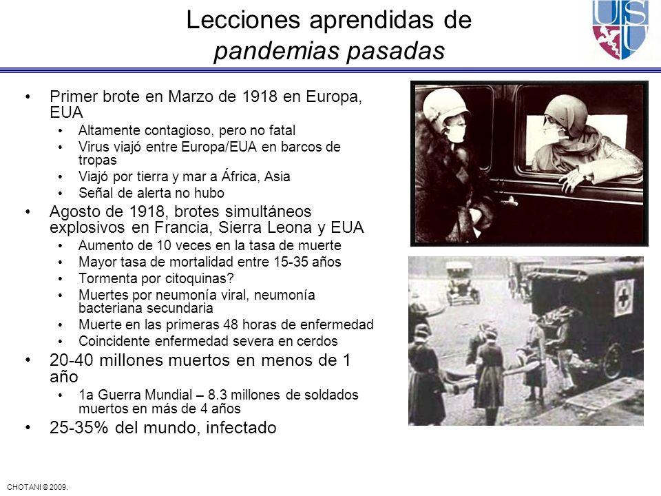 Lecciones aprendidas de pandemias pasadas