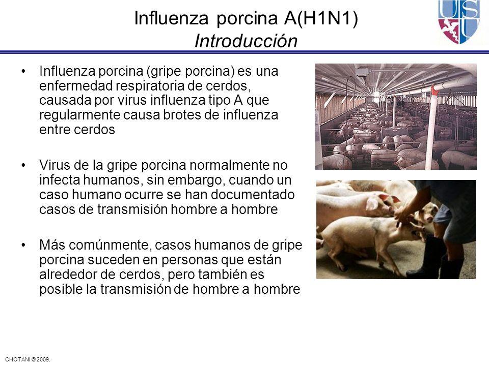 Influenza porcina A(H1N1) Introducción