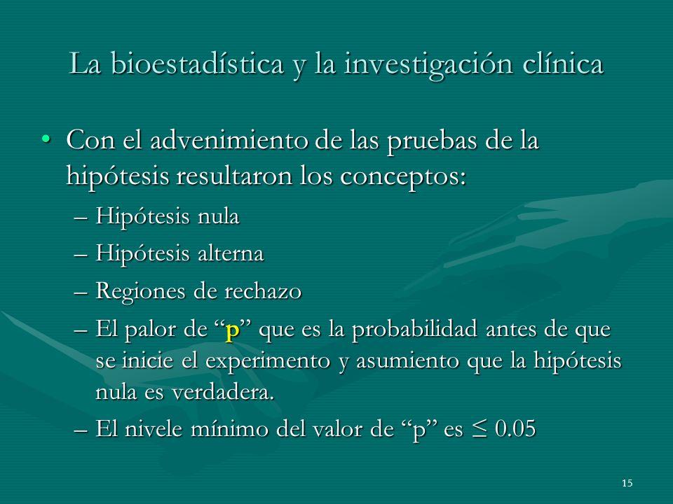 La bioestadística y la investigación clínica