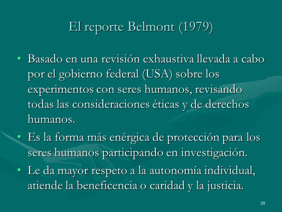El reporte Belmont (1979)