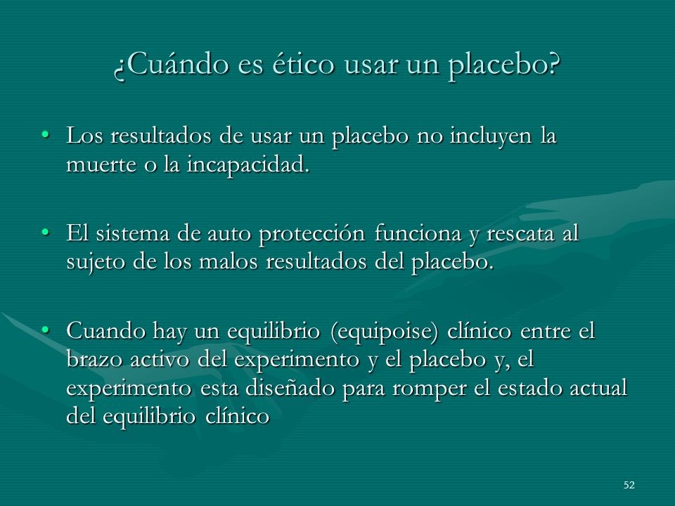 ¿Cuándo es ético usar un placebo