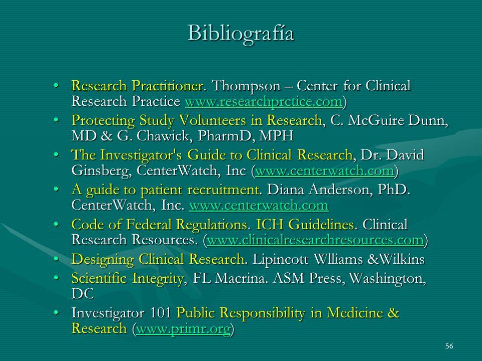 Bibliografía Research Practitioner. Thompson – Center for Clinical Research Practice www.researchprctice.com)