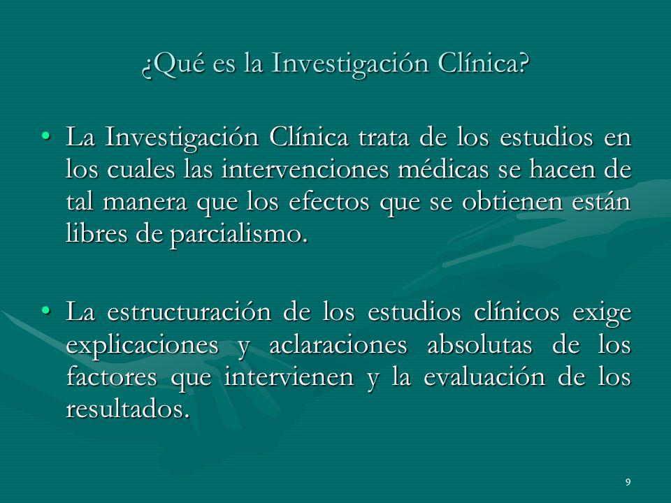¿Qué es la Investigación Clínica