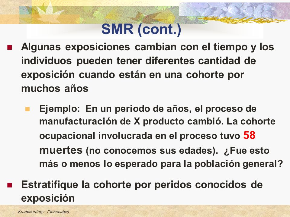 SMR (cont.)