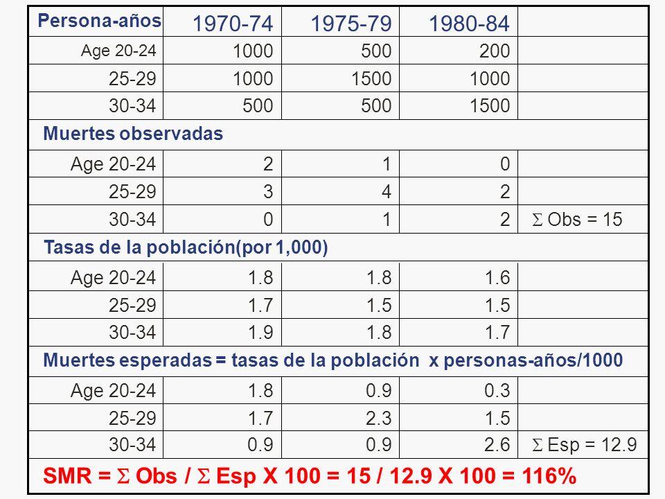 Persona-años 1970-74. 1975-79. 1980-84. Age 20-24. 1000. 500. 200. 25-29. 1000. 1500. 1000.