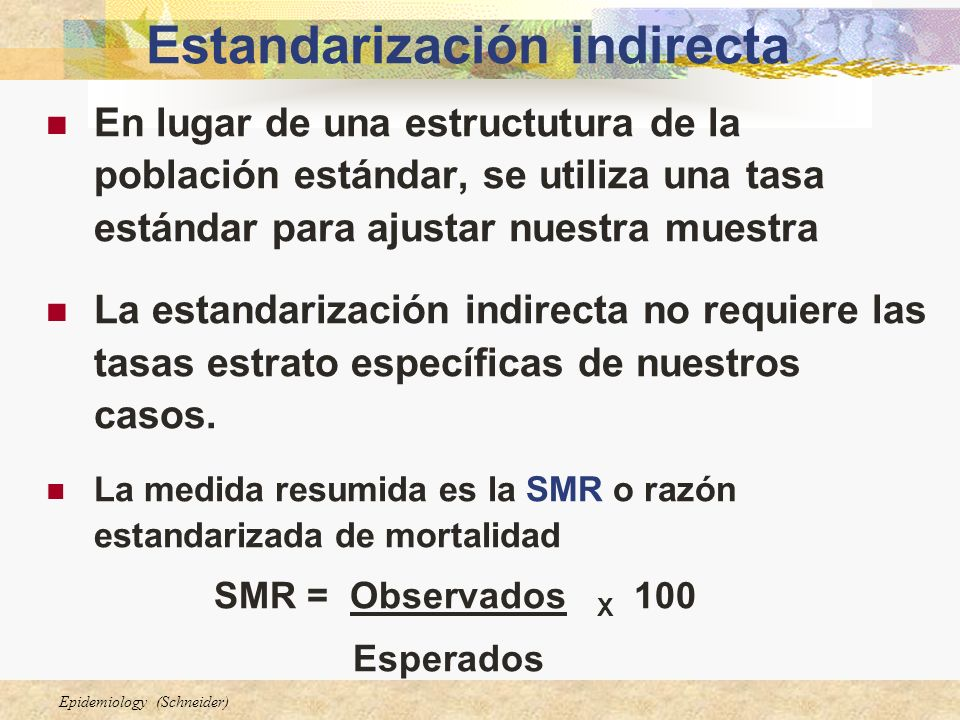 Estandarización indirecta