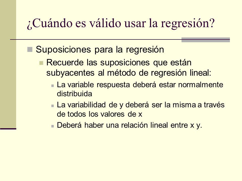 ¿Cuándo es válido usar la regresión