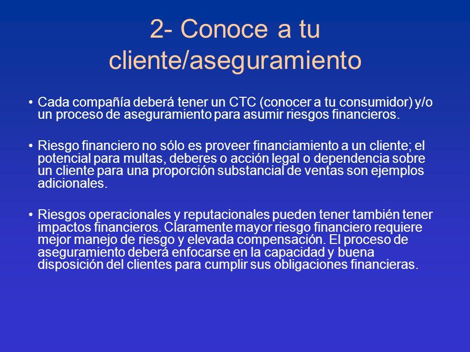 2- Conoce a tu cliente/aseguramiento