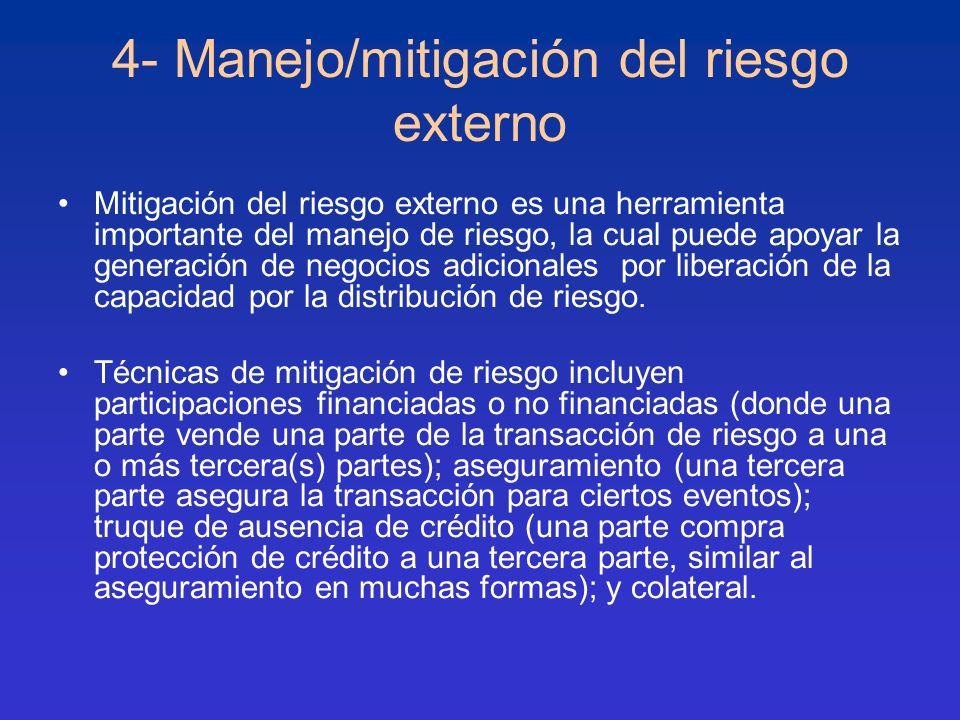 4- Manejo/mitigación del riesgo externo