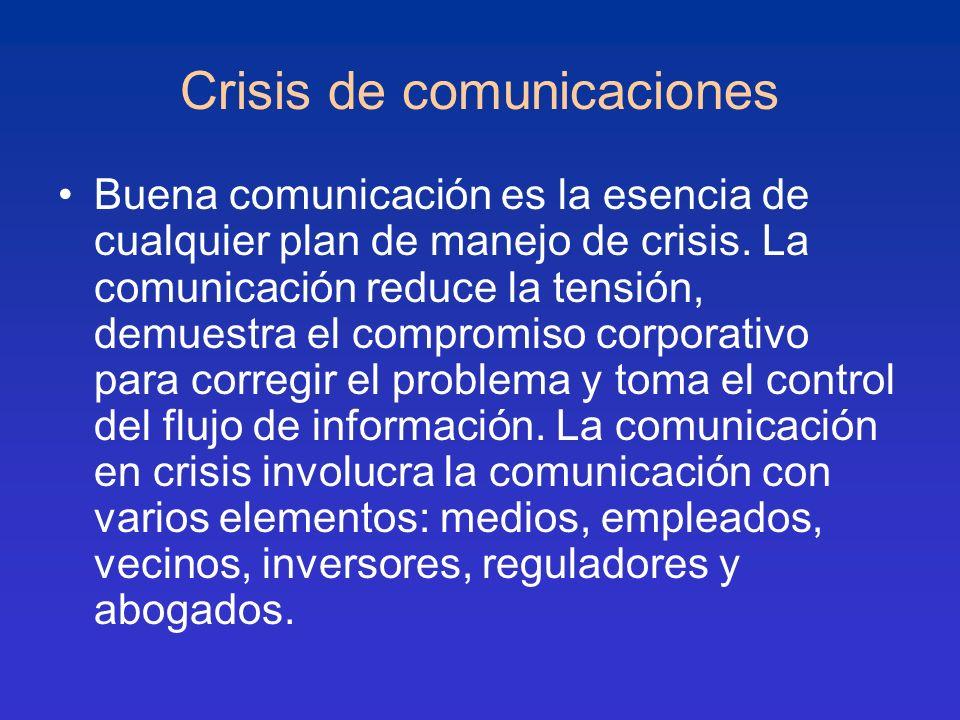 Crisis de comunicaciones