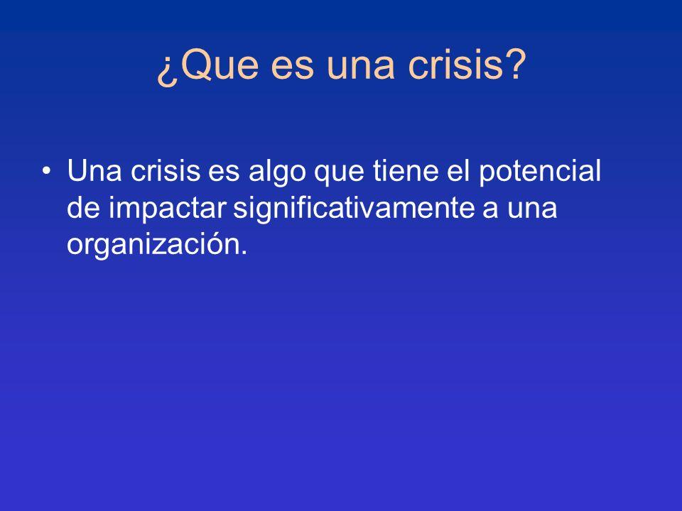 ¿Que es una crisis.