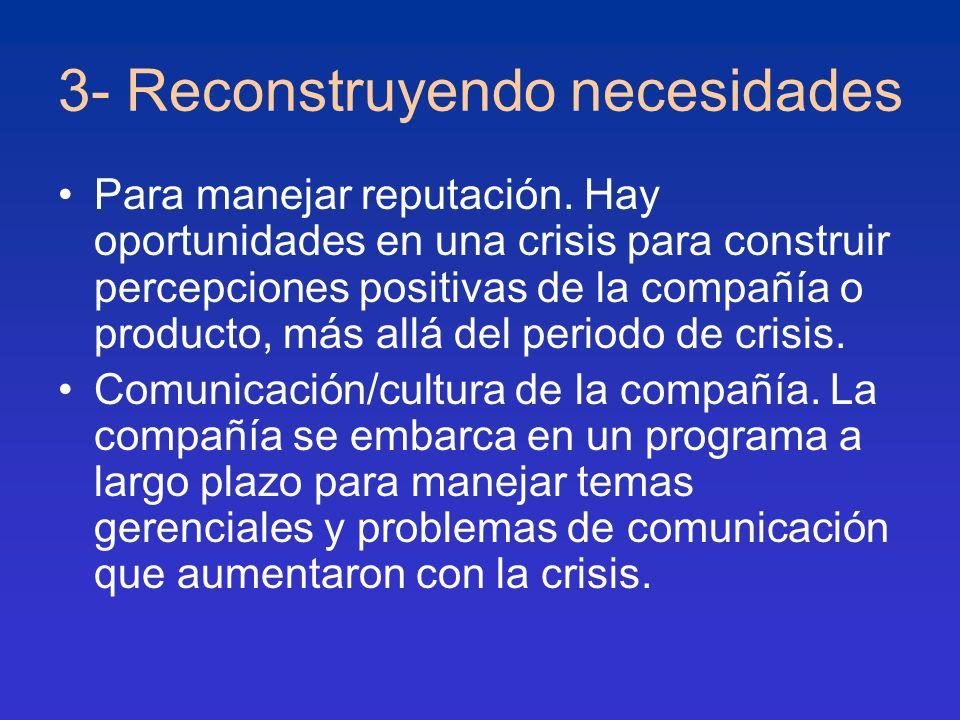 3- Reconstruyendo necesidades