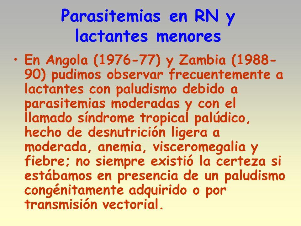 Parasitemias en RN y lactantes menores