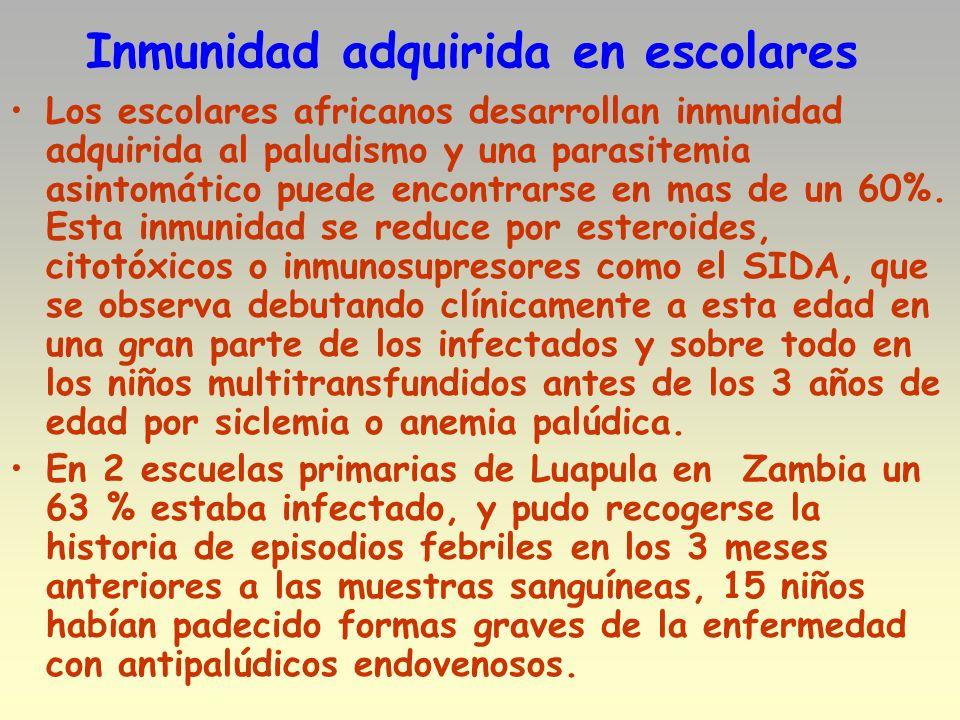 Inmunidad adquirida en escolares