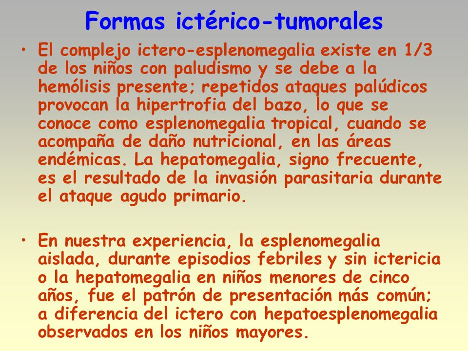 Formas ictérico-tumorales