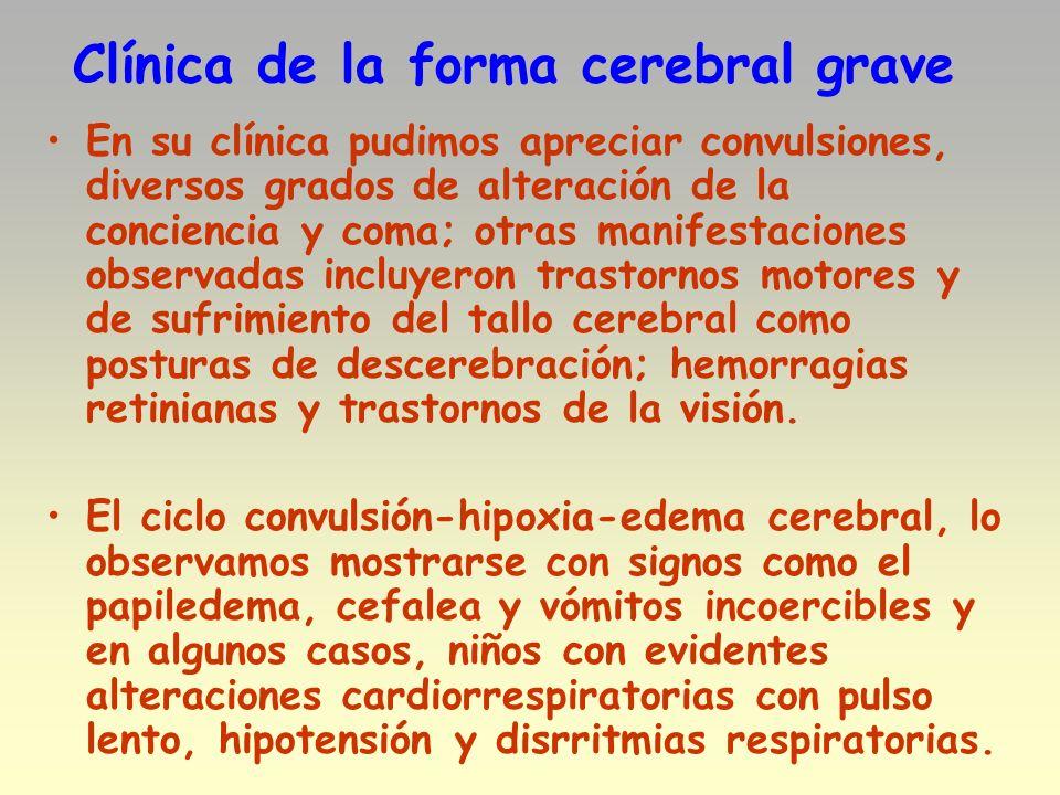 Clínica de la forma cerebral grave