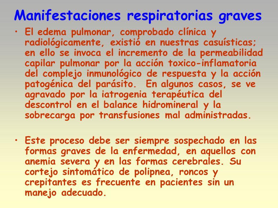 Manifestaciones respiratorias graves