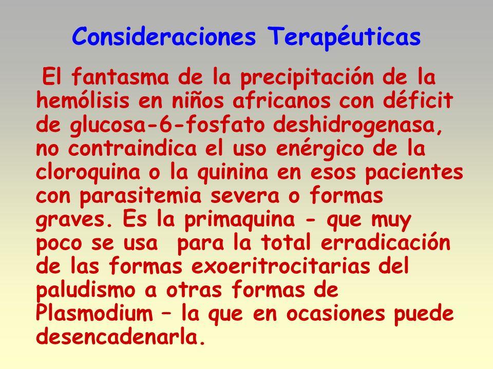 Consideraciones Terapéuticas