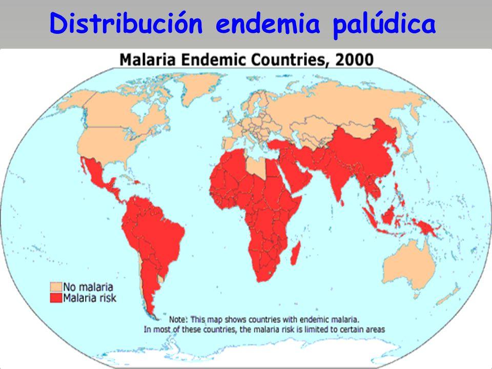Distribución endemia palúdica
