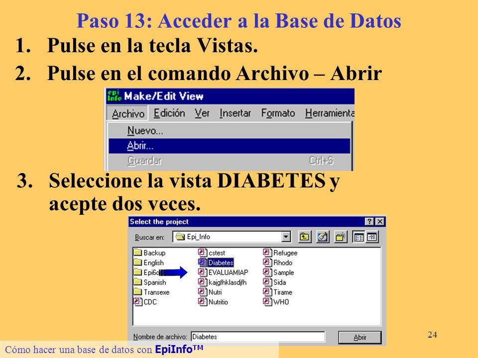 Paso 13: Acceder a la Base de Datos