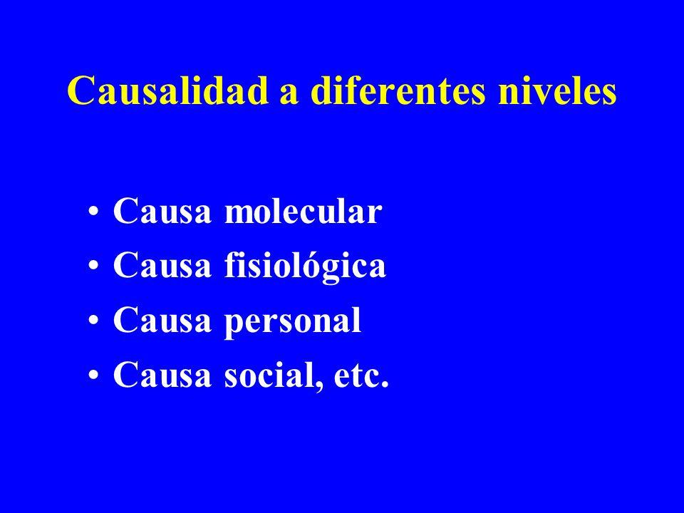 Causalidad a diferentes niveles